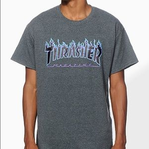 Thrasher Skateboarding Tshirt gray, blue, & purple